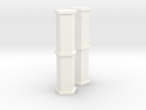 1/100 Heavy Fuel Tanks in White Processed Versatile Plastic