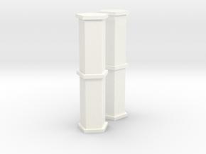 1/100 Heavy Fuel Tanks in White Processed Versatile Plastic