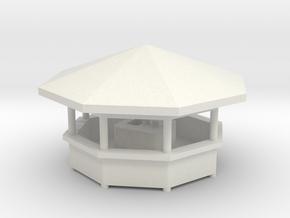 Ausschank 8 Eck - 1:87 (H0 scale) in White Natural Versatile Plastic