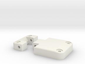 Functional door hinge right D90 D110 RC4WD 2/4 in White Natural Versatile Plastic
