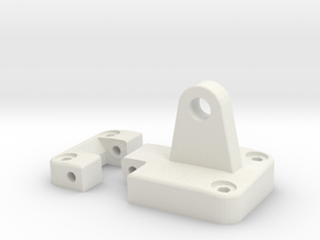 Functional door hinge side mirror right D90 D110 T in White Natural Versatile Plastic