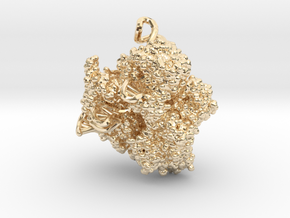 CRISPR Pendant - Science Jewelry in 14K Yellow Gold