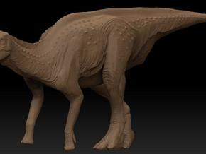 Female Lambeosaurus m. Standing Medium in White Natural Versatile Plastic