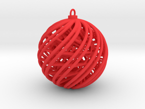 Christmas Ornament A in Red Processed Versatile Plastic