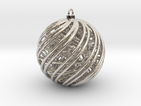 Christmas Ornament A in Platinum