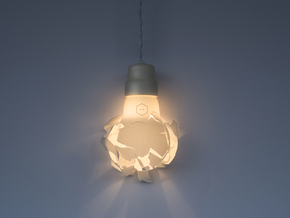 Wrecking Bulb in White Natural Versatile Plastic