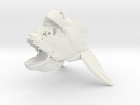 Xiphactinus Ornament With Hat in White Natural Versatile Plastic