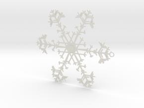 Snowflake Ornament - 8675309 in White Natural Versatile Plastic