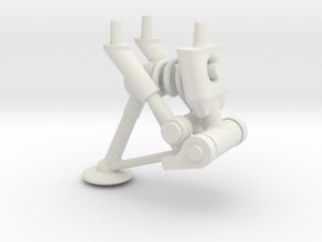 Spring Gear 4 in White Natural Versatile Plastic