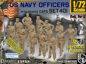 1/72 USN Officers Set401 in Smooth Fine Detail Plastic