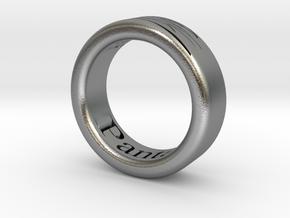 Panta Rhei Ring  in Natural Silver