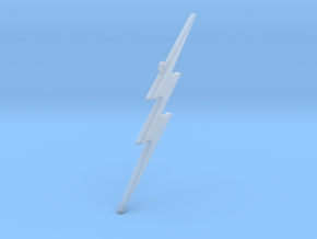 THE FLASH - Lightning Bolt Christmas Tree Ornament in Smoothest Fine Detail Plastic
