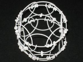 Wire Sphere in White Natural Versatile Plastic