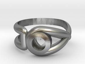 Cancer Survivor Ring in Natural Silver: 6.5 / 52.75
