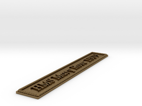 Nameplate: HMS Mary Rose 1509 in Natural Bronze