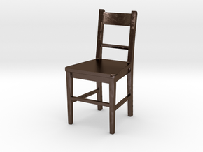 Small Basic Chair  in Polished Bronze Steel
