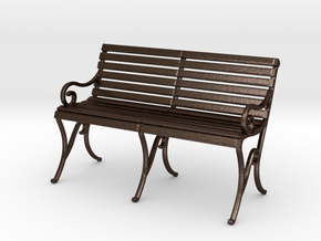 Period Park Bench in Matte Bronze Steel