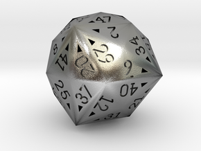 48 Sided Die - Regular in Natural Silver