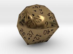 48 Sided Die - Regular in Natural Bronze