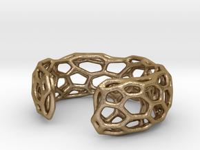 Lakatos Cuff in Polished Gold Steel: Medium