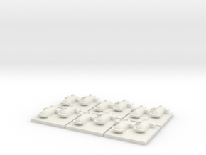 Space Orc Assault boats (6) in White Natural Versatile Plastic