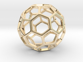 Geodesic Wire ::: Circle Pendant in 14k Gold Plated Brass