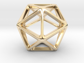 Geodesic Wire ::: Triangle Pendant in 14k Gold Plated