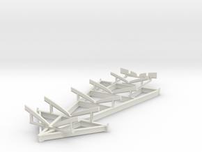 1/24 USN PT Boat Cradle in White Natural Versatile Plastic