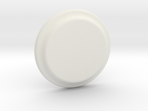 Plate in White Natural Versatile Plastic