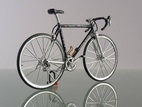 1/18 bicycle wheel in Smooth Fine Detail Plastic