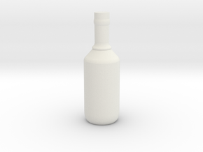 Bottle 3 in White Natural Versatile Plastic