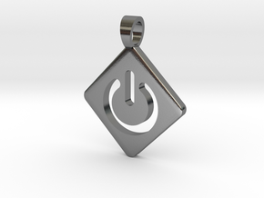 ON / OFF [pendant] in Polished Silver