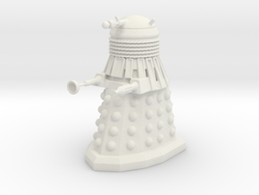 Dalek in White Natural Versatile Plastic