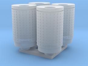 DSB 80L Affaldsbeholder (4stk) 1:120 in Smooth Fine Detail Plastic