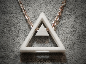 Loop ::: Triangle Pendant ::: v.01 in White Processed Versatile Plastic