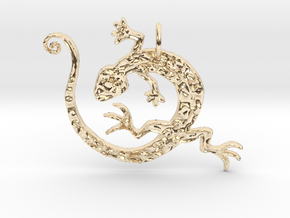 Lizard Dance in 14k Gold Plated Brass