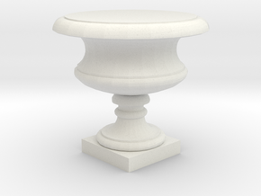 Urn in White Natural Versatile Plastic