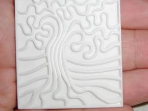Oak Stamp - 50mm v1a in White Natural Versatile Plastic