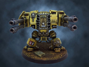 Dreadnought Autocannon arms, 28mm v1.3 in White Strong & Flexible