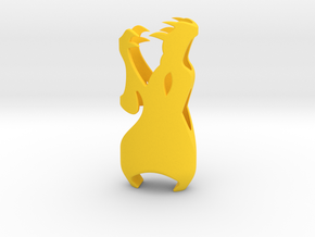Dragon in Yellow Processed Versatile Plastic