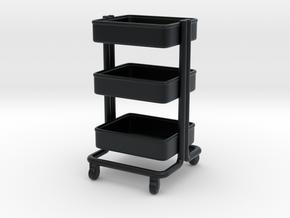Miniature Kitchen Cart - IKEA in Black Hi-Def Acrylate: 1:12