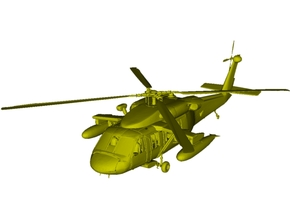 1/400 scale Sikorsky UH-60 Black Hawk x 1 in Smooth Fine Detail Plastic