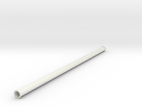 """24"""" pipe with flange in White Natural Versatile Plastic"""