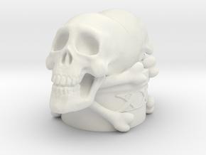 Poison Skulls Bottlestop in White Premium Versatile Plastic