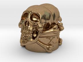 Poison Skulls Bottlestop in Natural Brass