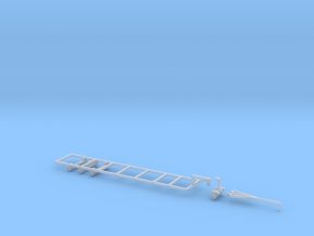 1/64 40' Double Headed Trailer- Frame and Hitch in Smooth Fine Detail Plastic