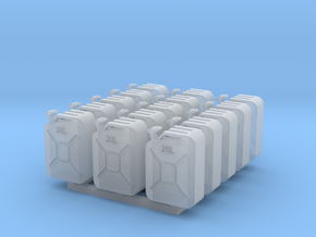 Jerry Cans set #1 28mm in Frosted Ultra Detail