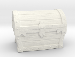 Treasure Chest Environment Miniature in White Natural Versatile Plastic