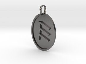 Epsilon Medallion in Polished Nickel Steel