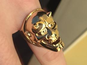 Oni Ring in Polished Brass